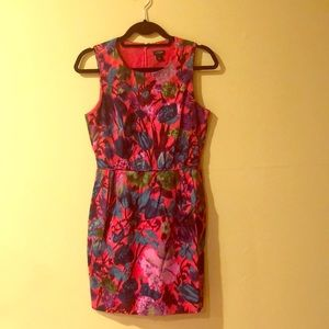 J.Crew Pink Floral Cocktail Dress